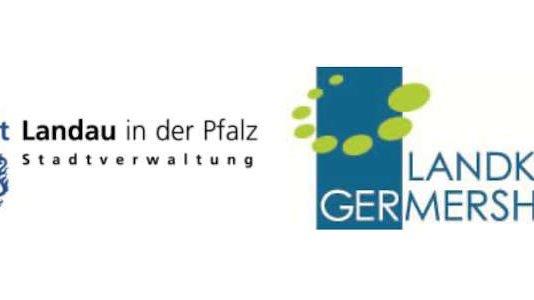 Die Wappen der Landkreise SÜW, GER, SWP und der Stadt LD