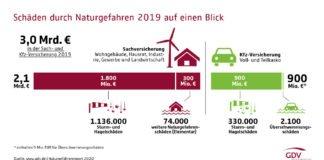 Grafik Naturgefahrenbilanz 2020 (Foto: GDV)