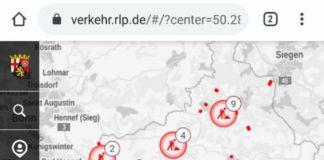 Screenshot Mobilitätsatlas Rheinland-Pfalz (Quelle) MWVLW RLP)