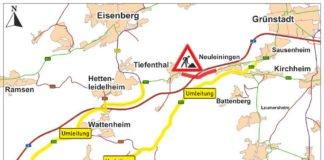 Umleitungsstrecke (Quelle: LBM Speyer)
