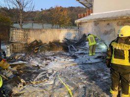 Brand auf Betriebsgelände (Foto: Polizei RLP)