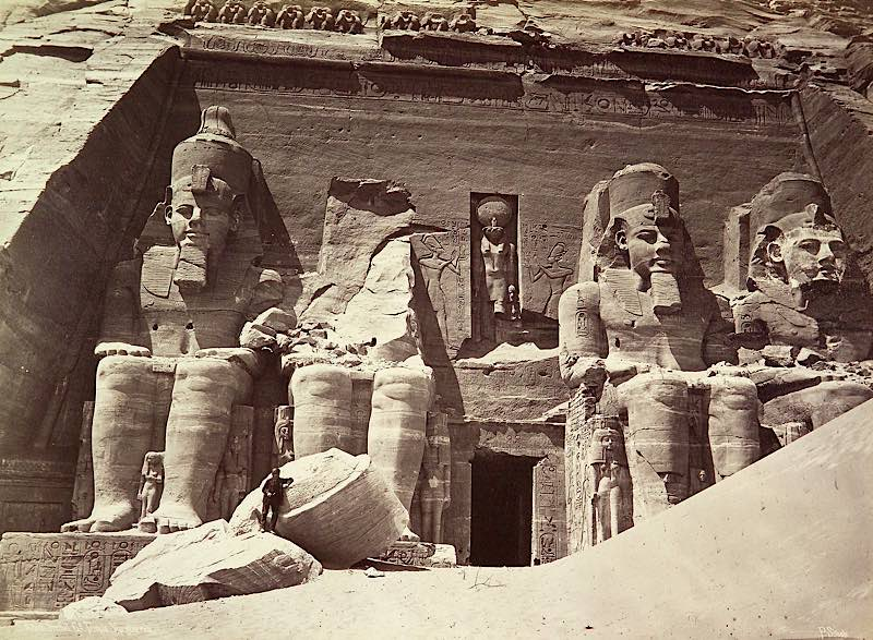 Abu Simbel, der große Tempel für Ramses II., Pascal Sébah, um 1875 (Quelle: rem, Forum Internationale Photographie)