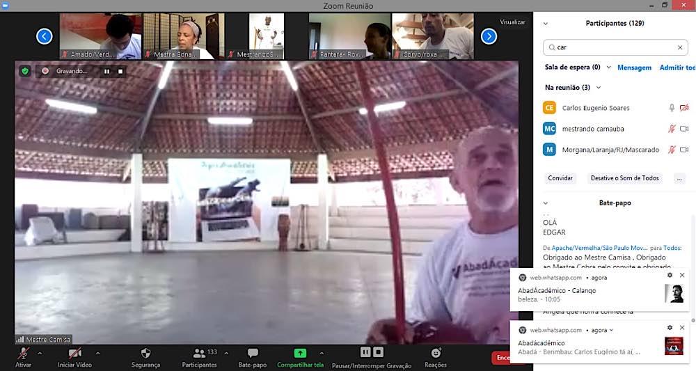 """Natürlich kam der Sport nicht zu kurz: Zwischendurch gab es Training beim Capoeira-Meister """"Mestre Camisa"""". (Foto: Abadá-Capoeira)"""