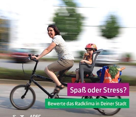 Der ADFC-Fahrradklimatest fragt alle zwei Jahre ab, wie fahrradfreundlich die deutschen Städte sind. (Quelle: ADFC/April Agentur)