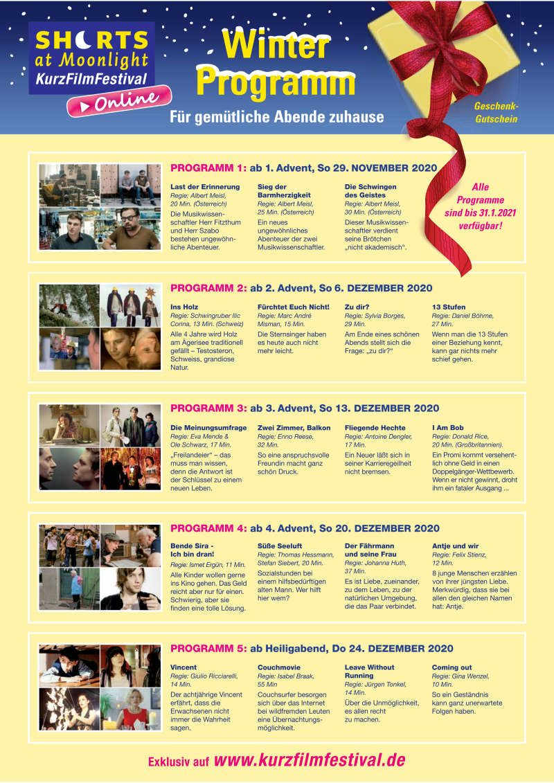 Winterfilmprogramm SHORTS AT MOONLIGHT