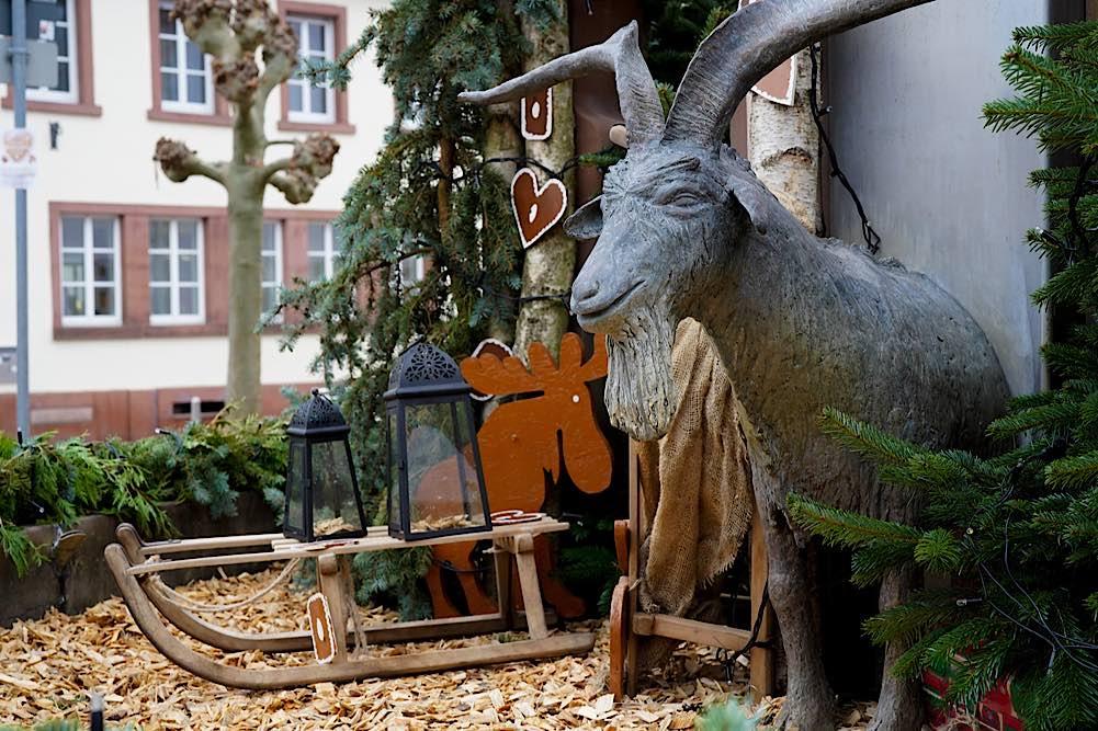 Lambrecht Advent Geißbockbrunnen 2020 (Foto: Holger Knecht)