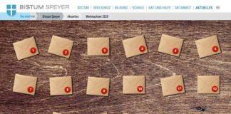 Digitaler Adventskalender (Quelle: Bistum Speyer)