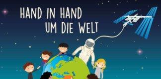"""Der Malwettbewerb steht unter dem Motto """"Hand in Hand um die Welt"""". (Credit: DLR (CC-BY 3.0))"""