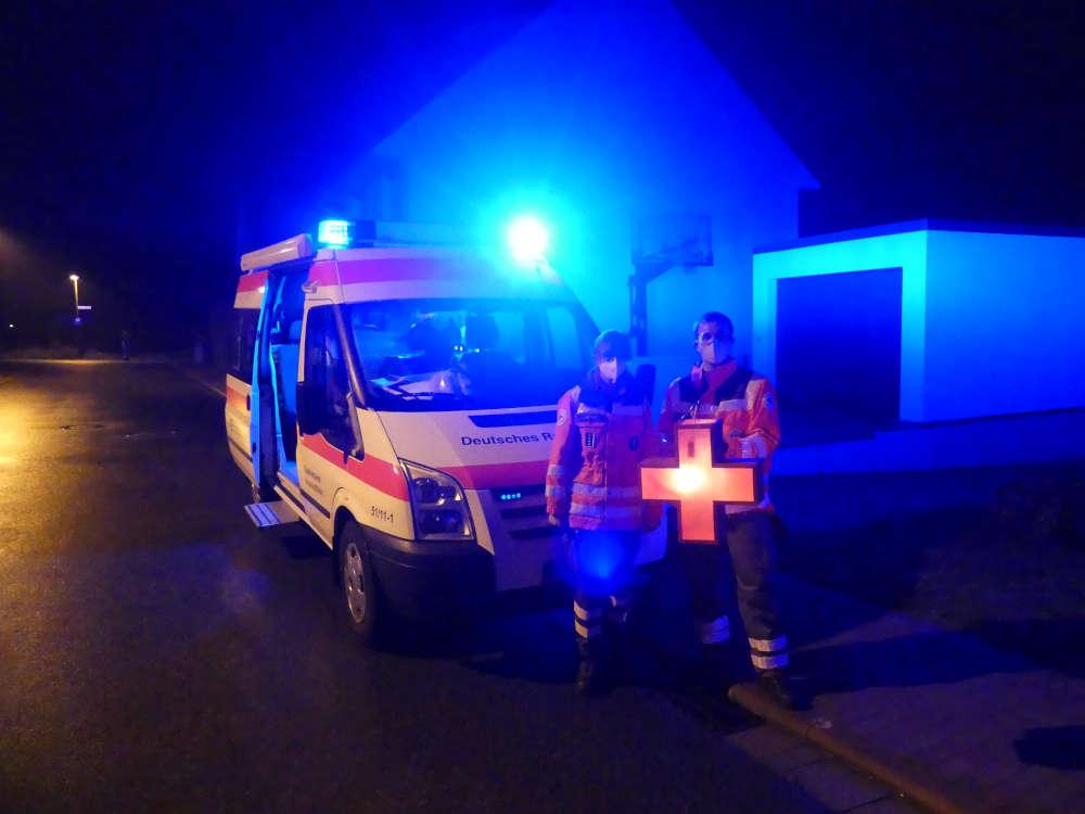 DRK-Helfer (Foto: Medienteam Feuerwehr Neustadt)