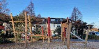 Neues Klettergerüst auf dem Spielplatz in der Siegfriedstraße (Foto: Stadt Mannheim)