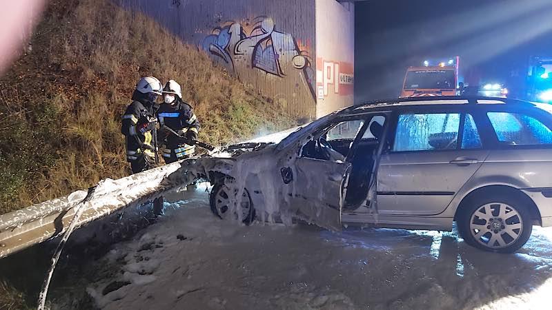 Verkehrsunfall auf der BAB 65 (Foto: Feuerwehr Haßloch)