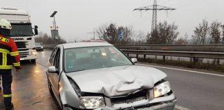Auffahrunfall auf der BAB 65 (Foto: Feuerwehr Neustadt)