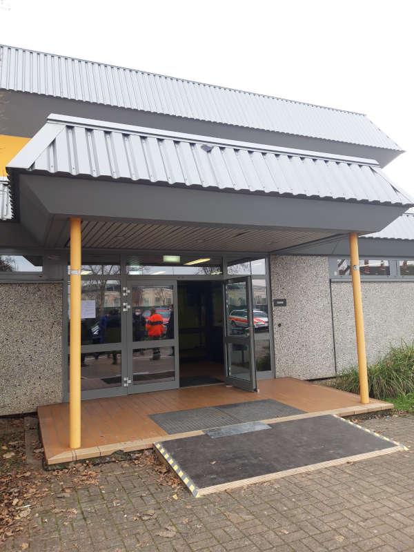 Impfzentrum FT Eingang (Foto: Pressestelle FT)