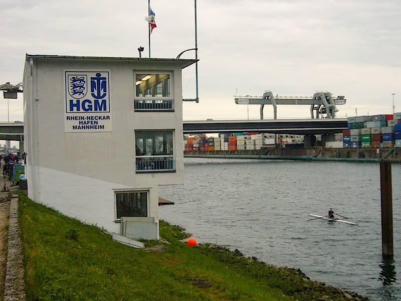 Regattastrecke Mannheimer Mühlauhafen (Foto: Hannes Blank)