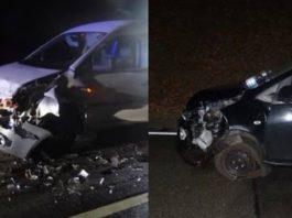 Verkehrsunfall auf der B 39 (Foto: Polizei RLP)