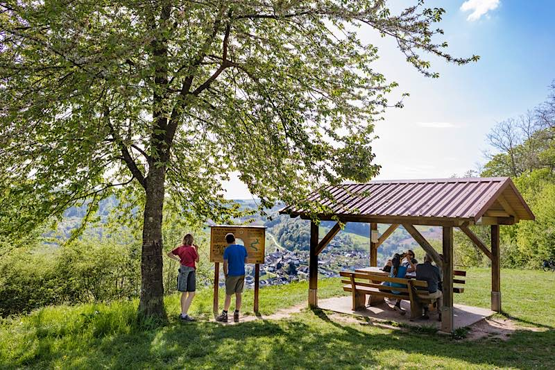 Wanderer in Neckargerach (Foto: Touristikgemeinschaft Odenwald/Barbara Wagner)