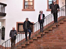 v.l.: Bernd Dieffenbacher, Michael Landgraf, Oliver Stieß und Peter Döngi (Foto: Weinbruderschaft der Pfalz)