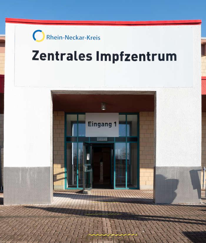 Zentrales Impfzentrum Heidelberg (Foto: Landratsamt Rhein-Neckar-Kreis)