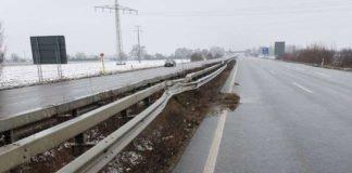 Mittelschutzplanke in Fahrtrichtung Neustadt (Foto: Polizei RLP)