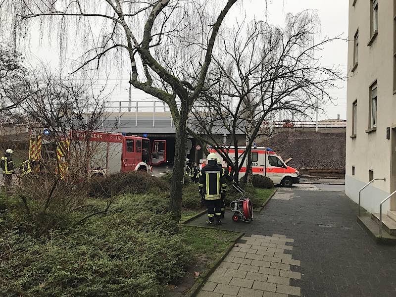Einsatzstelle in der Winzinger Straße (Foto: Feuerwehr Neustadt)