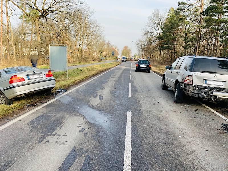 Verkehrsunfall auf der L 530 (Foto: Polizei RLP)