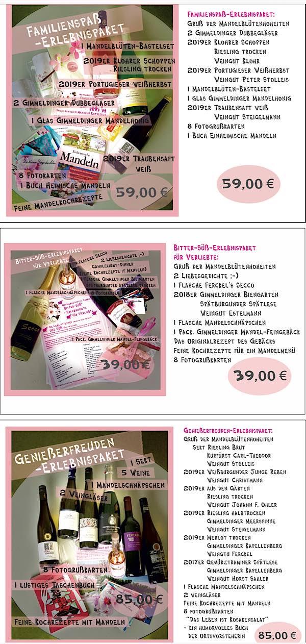 Erlebnispakete (Quelle: Stadtverwaltung Neustadt)
