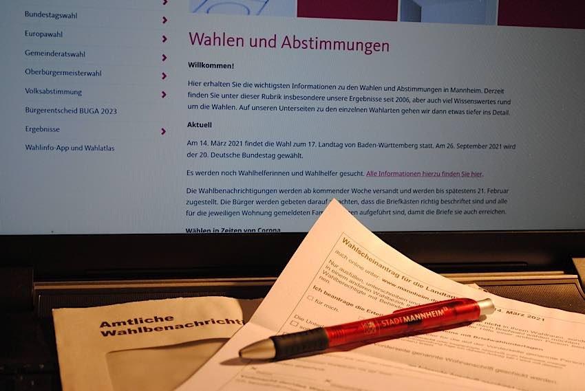 Wahlbenachrichtigung (Foto: Stadt Mannheim)