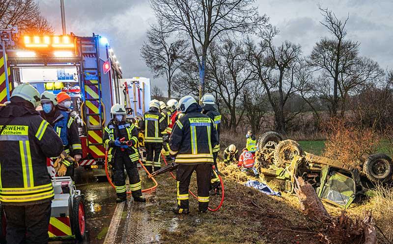 Unfall auf der B 47 (Foto: Helmut Dell)