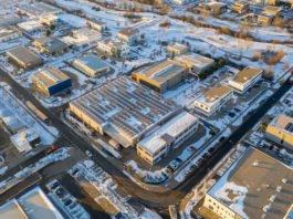 Das neue Impfzentrum Landau/Südliche Weinstraße von oben. (Quelle: Alexander Martin)