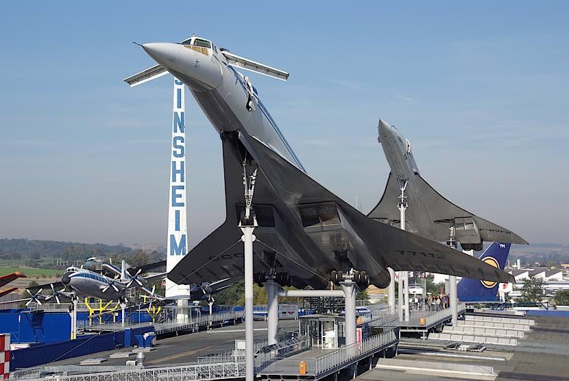 Die beiden Überschalljets Concorde und Tupolev in Sinsheim (Quelle TMSP)