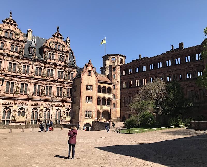 Schlosshof Heidelberg (Quelle: SSG/Foto: Anja Stangl)