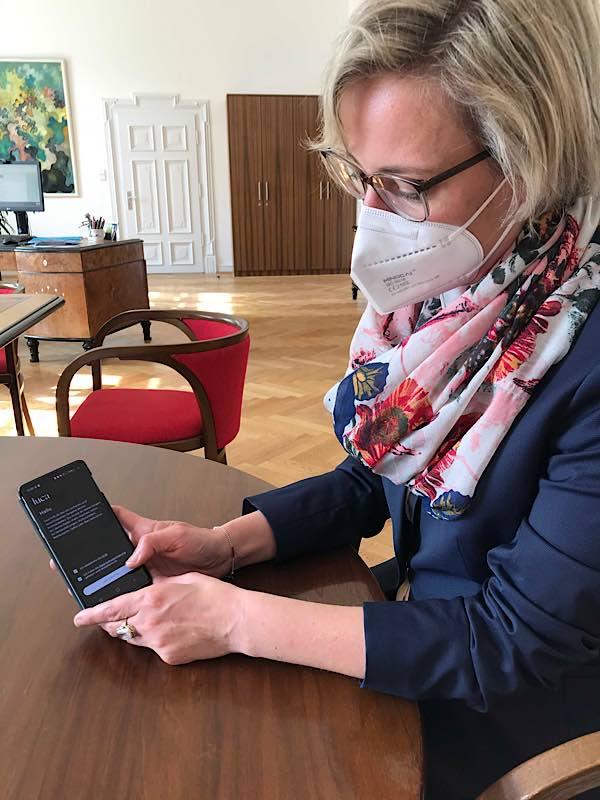 In Speyer soll die Luca App zur Kontaktnachverfolgung genutzt werden (Foto: Stadt Speyer)