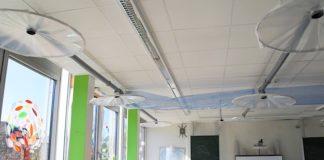 In der zurückliegenden Woche waren die im Otto-Hahn-Gymnasium erstellten Pilot-Lüftungsanlagen vorgestellt worden. (Quelle: Stadt Landau)