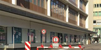 Die Schranke in der Fressgasse (Foto: Stadt Mannheim)