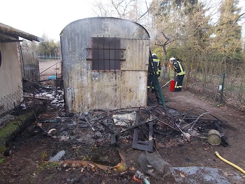 Die Brandstelle (Foto: Polizei RLP)