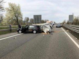 Verkehrsunfall auf der BAB 65 (Foto: Polizei RLP)