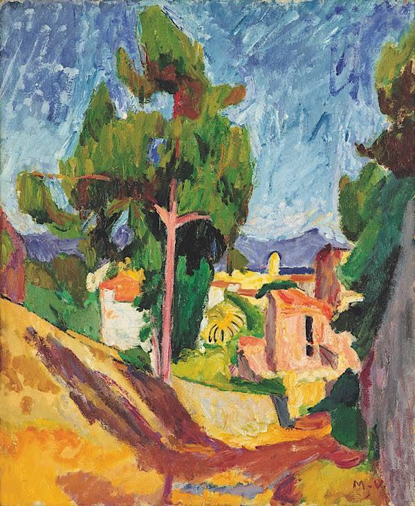 Mathilde Vollmoeller-Purrmann, Ausblick auf Collioure, um 1909, Purrmann-Haus Speyer (Foto: Gerhard Kayser, Speyer)