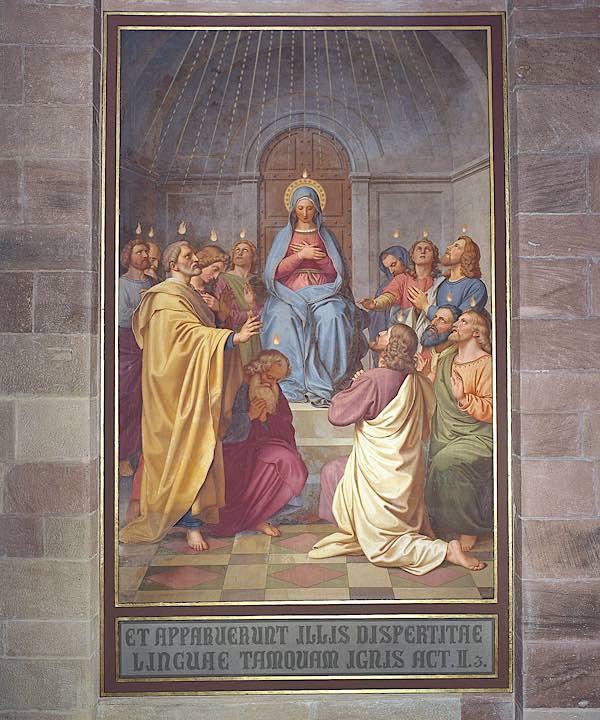 Fresko mit dem Pfingstereignis aus dem Speyerer Dom (Foto: Domkapitel Speyer)