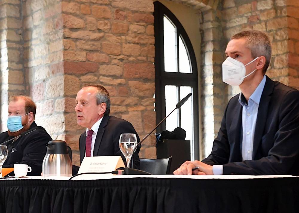 Pressegespräch mit Kulturminister Konrad Wolf (Foto: Kai Mehn)