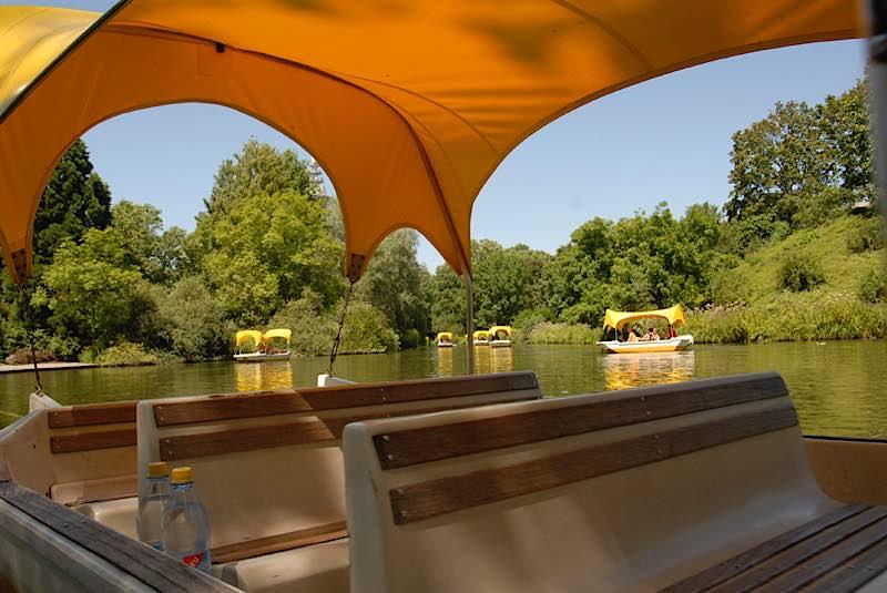 Gondolettas im Luisenpark (Foto: Stadtpark Mannheim)