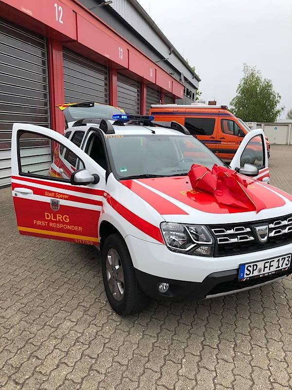 Das FR-Einsatzfahrzeug (Foto: Stadt Speyer)