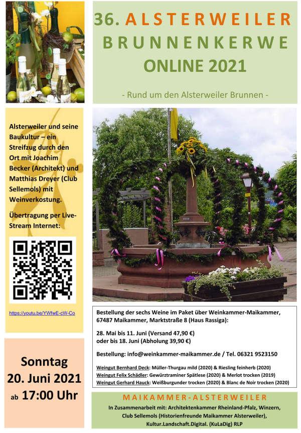 Alsterweiler Brunnenkerwe ONLINE 2021 (Foto: BfT Maikammer)