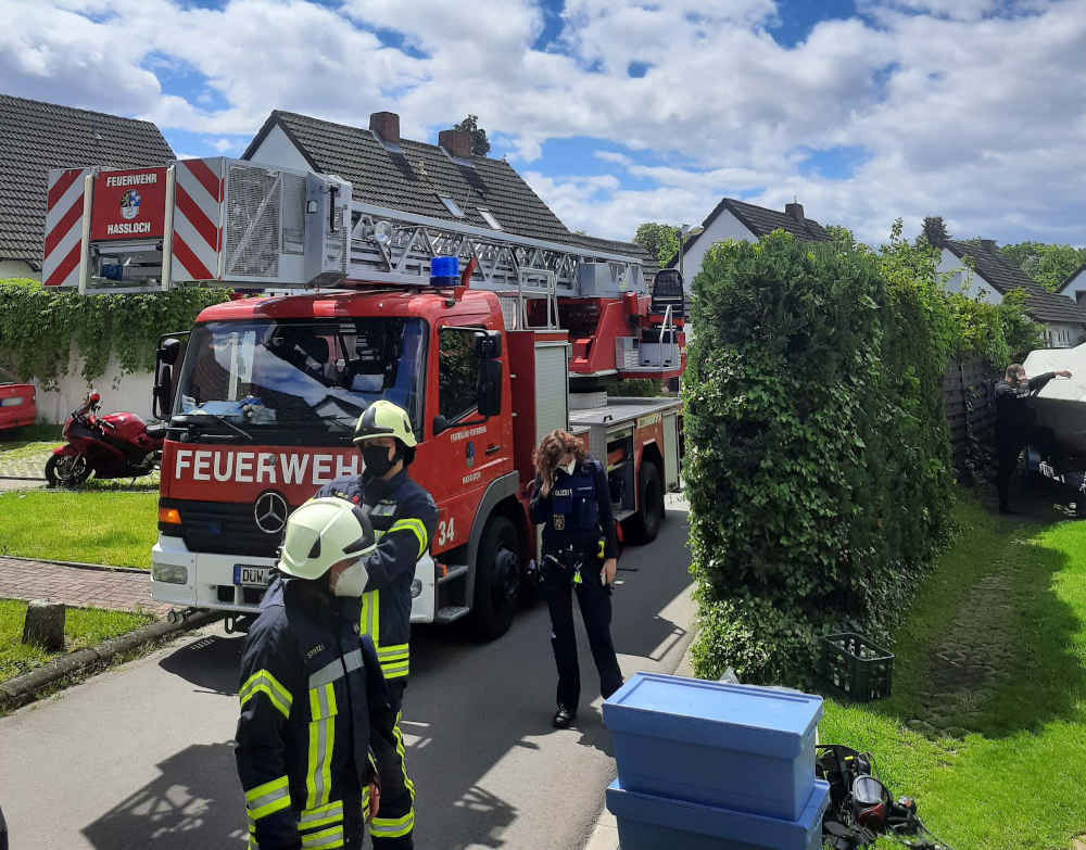 Gebäudebrand in der Rehbachstraße (Foto: Feuerwehr Haßloch)