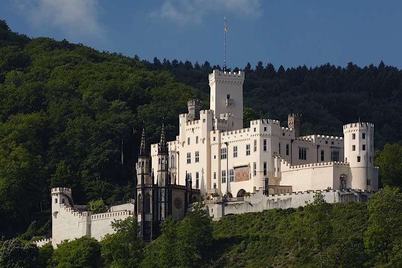 Foto: Schloss Stolzenfels / Koblenz im Welterbe Oberes Mittelrheintal. (Foto: GDKE Rheinland-Pfalz / Pfeuffer)