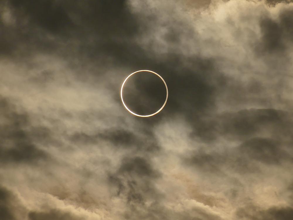 Ringförmige Sonnenfinsternis, beobachtet 2019 im Oman (Bildnachweis: Daniel Fischer)