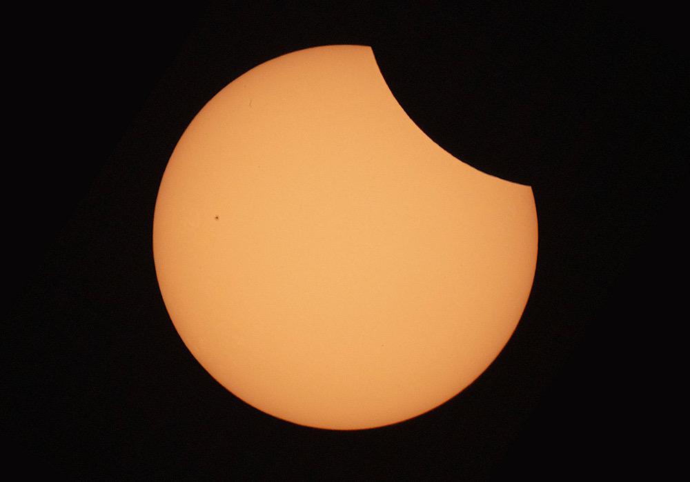 Partielle Sonnenfinsternis aus dem Jahr 2015 (Bildnachweis: Sven Melchert)