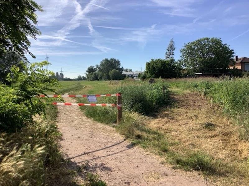 Der Weg wurde gesperrt (Foto: Stadtverwaltung Neustadt)