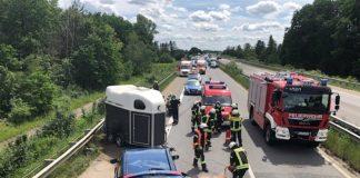 Die Unfallstelle auf der BAB 65 (Foto: Polizei RLP)