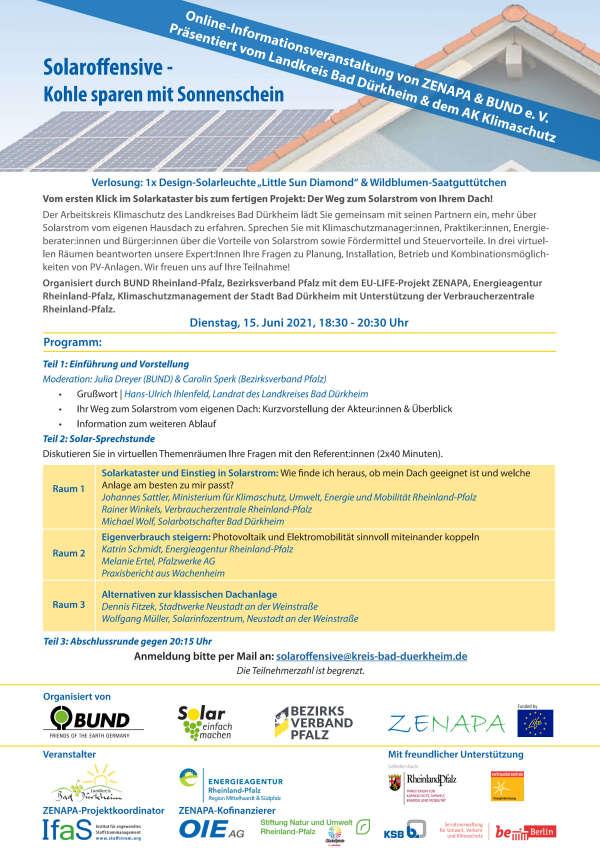 Online-Veranstaltung Solaroffensive