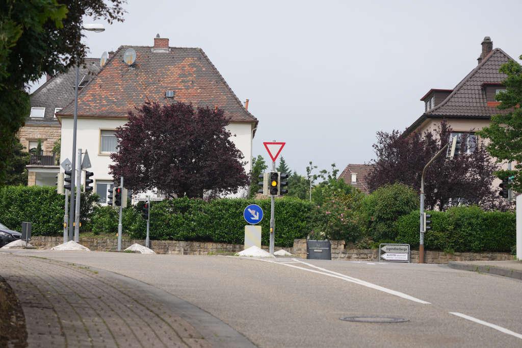 Ampel an der Kreuzung Schiller-/Stiftstraße (Foto: Holger Knecht)